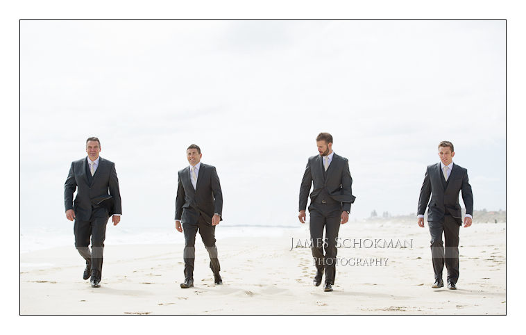 The boys at Scarborough beach before the wedding