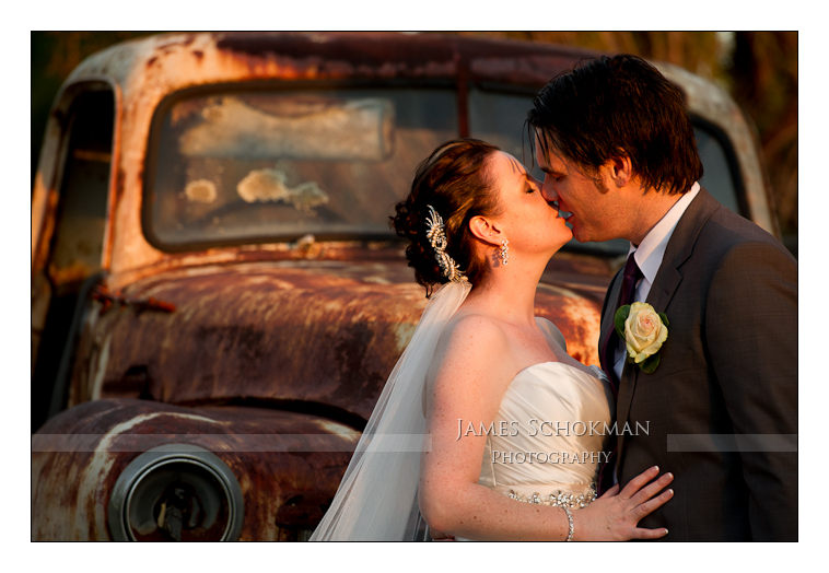 kissing by the old truck at belvoir collections perth