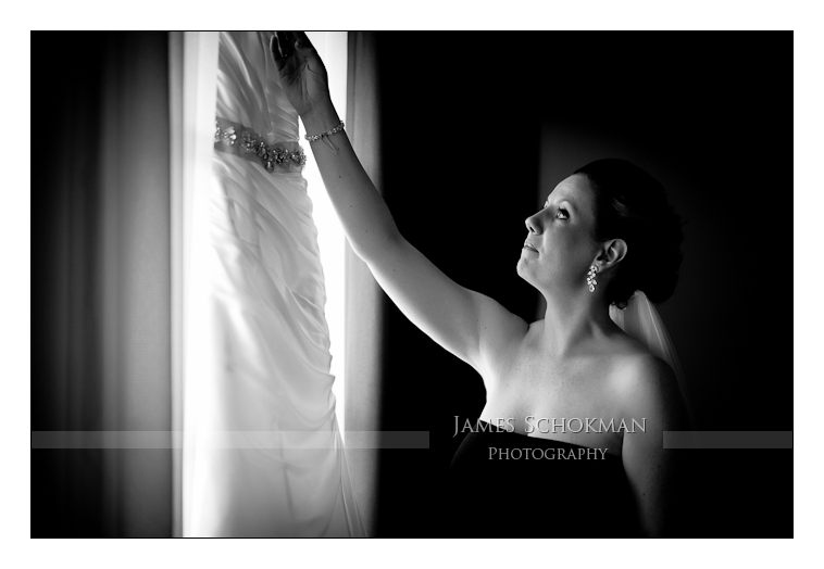 bride dressing at vines resort perth
