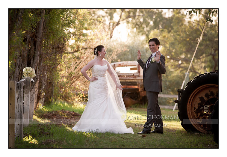 natural wedding photography at Belvoir's tractor